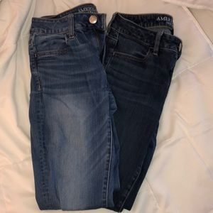 Set of two American eagle jeggings size 4
